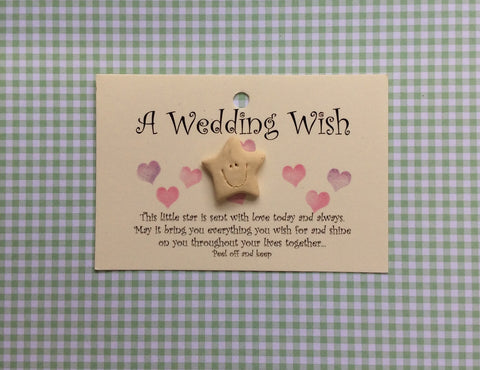 Little star card WEDDING