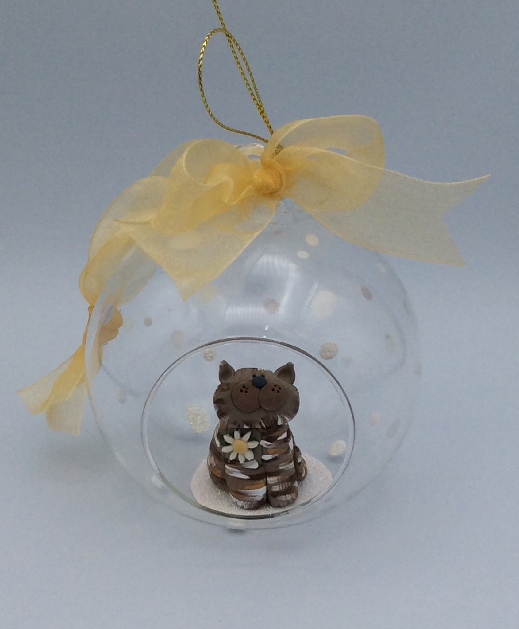 Beautiful cat bauble ( brown tabby)