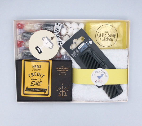 Men's gift set with personalised keyring