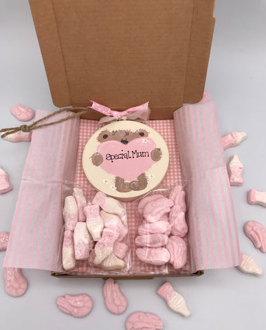 Teddy and heart sweetie box