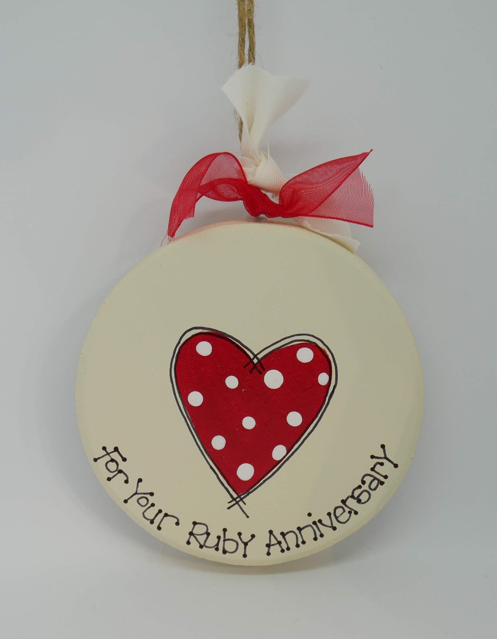 ruby anniversary keepsake plaque