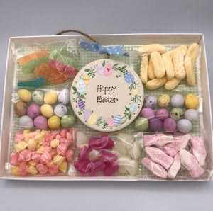 Easter Egg wreath keepsake plaque and sweetie box
