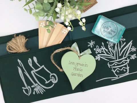 Gardeners gift set, with handmade heart