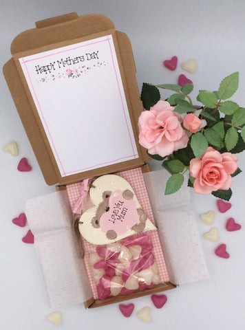 Personalised Teddy (holding heart) heart plaque sweetie box