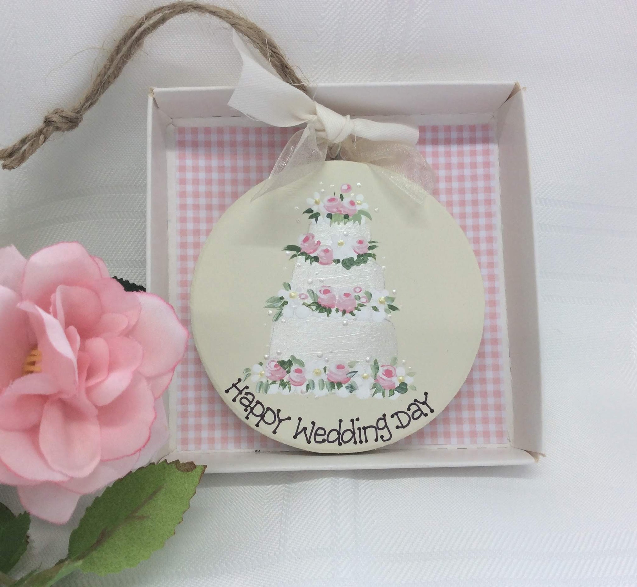 Personalised Wedding Keepsake Plaque -wedding cake design