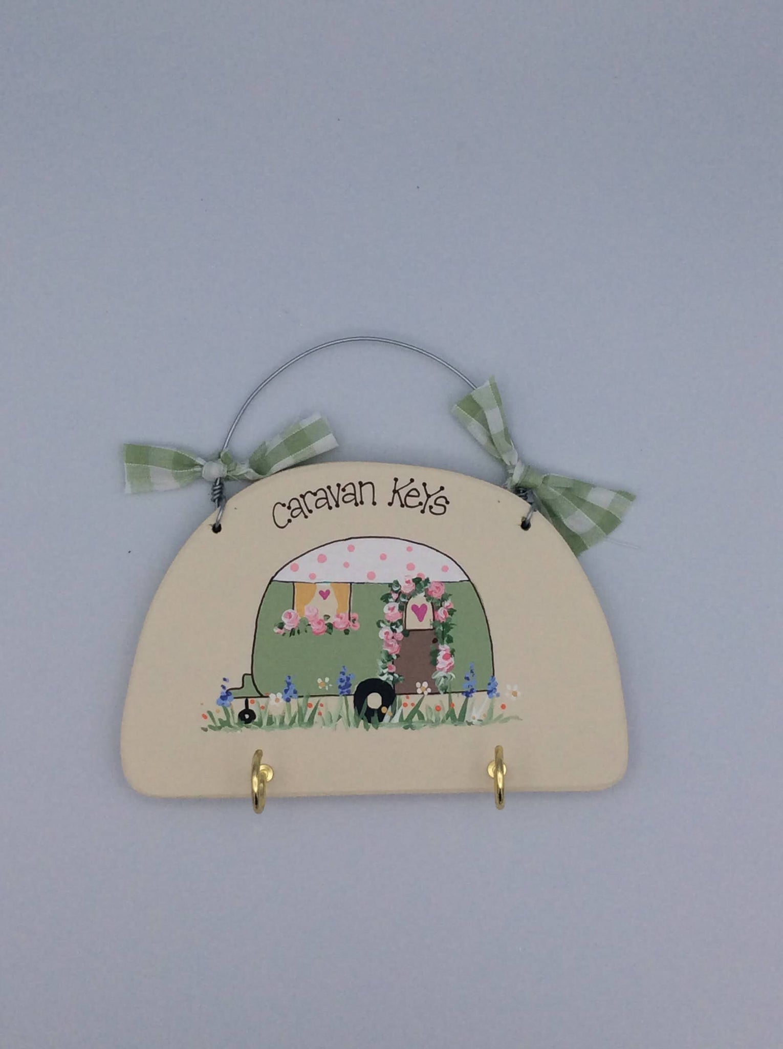 Caravan Keys hanging plaque/key holder