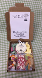 Dad sweetie box with personalised keyring