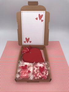 Heart and sweetie gift box (personalised)