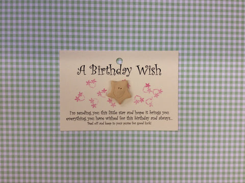 Little star card BIRTHDAY