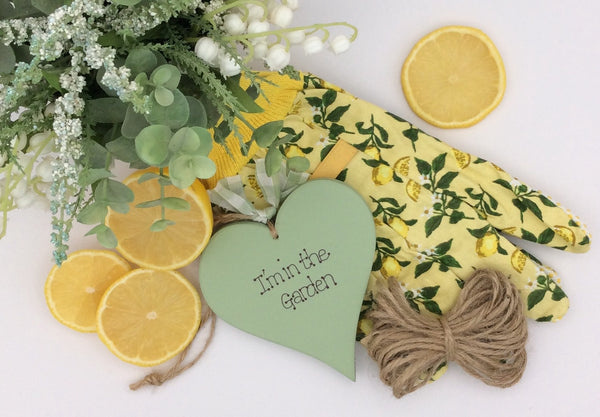 Personalised Gardeners gift box with heart and gloves