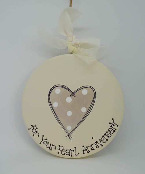 Anniversary keepsake plaque