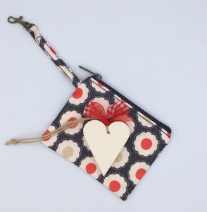 Beautiful coin purse and heart gift