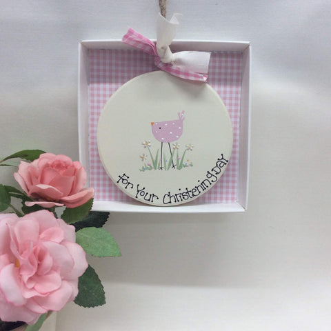Personalised Christening Day Keepsake Plaque
