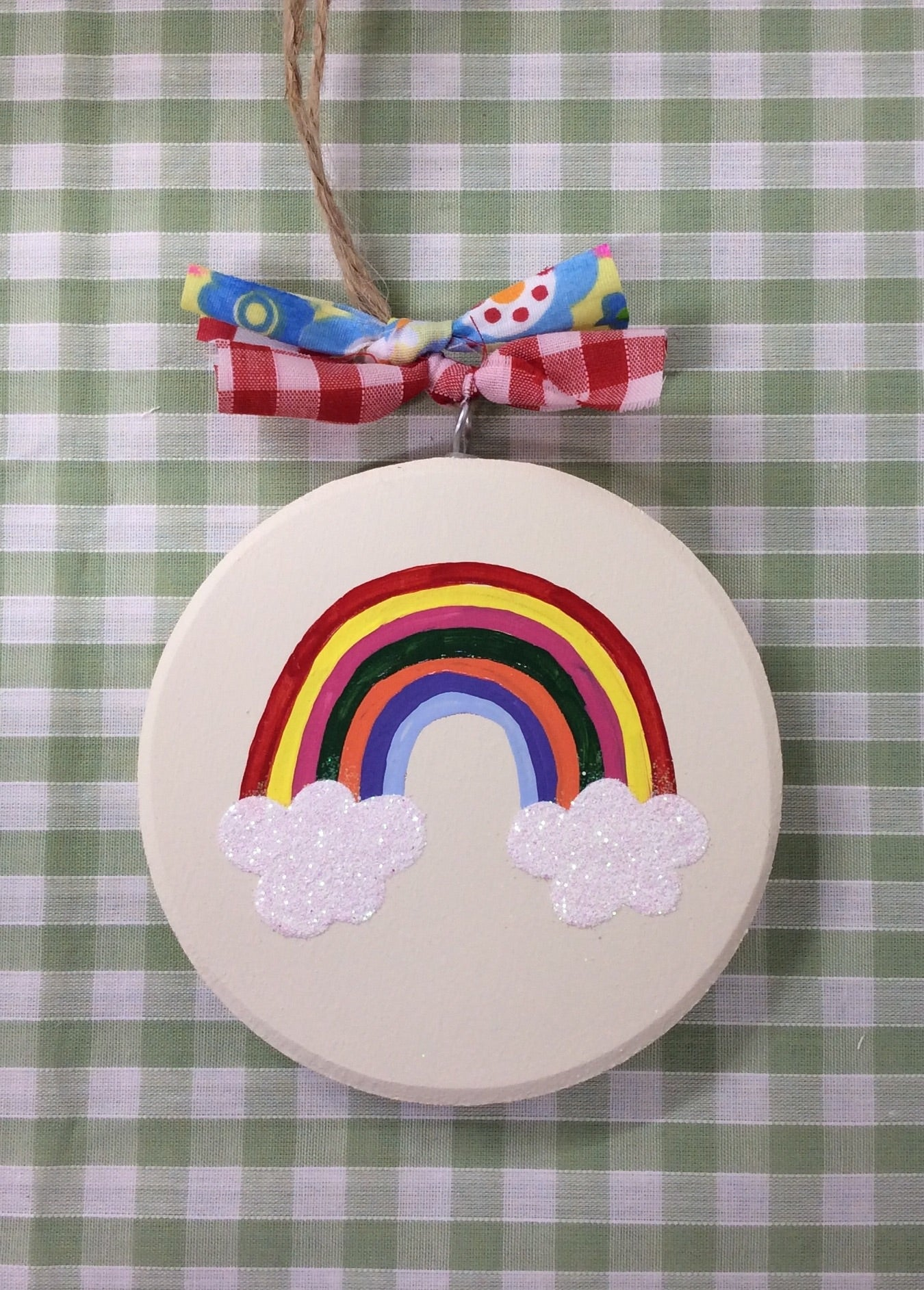 Rainbow keepsake plaque