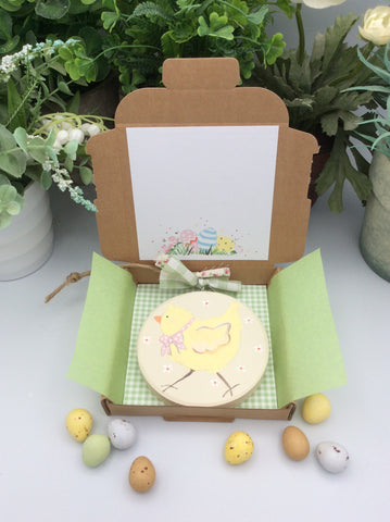 Chick easter keepsake card and gift in one