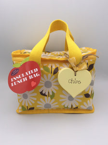 Personalised insulated lunch bag / carrier (Yellow)