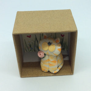 Little cat in a box ( Cats leave paw prints on your heart )