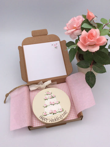 Wedding keepsake and card in one