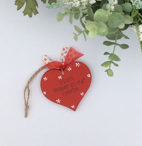 Personalised wooden memory heart