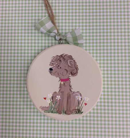 Beautiful little dog plaque ( personalised)