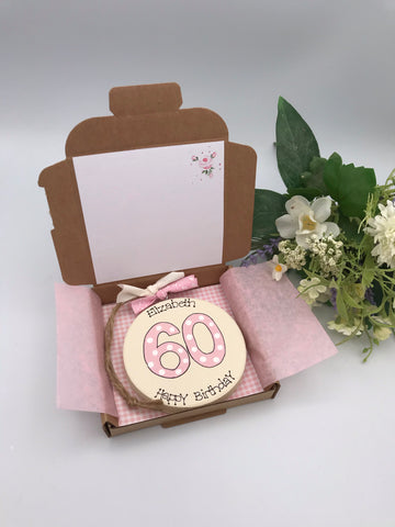 Milestone Birthday /Anniversary keepsake card and gift. Any age
