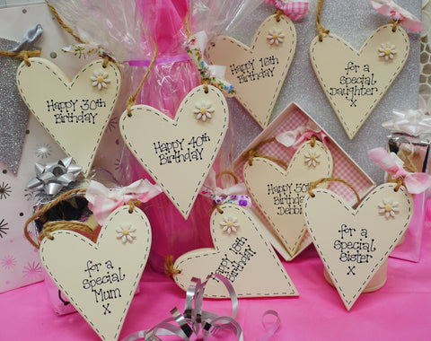 Personalised birthday heart