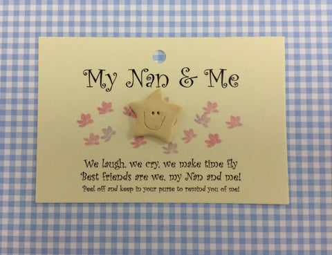 My Nan and me little wish card