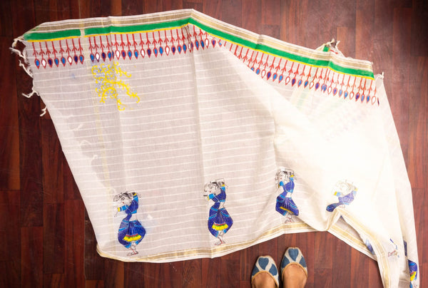 Hand-Painted Chanderi Dupattas