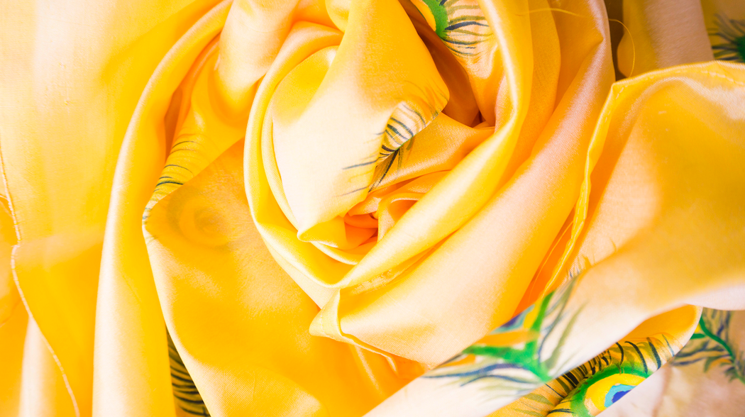 yellow silk dupatta