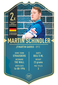 MARTIN SCHINDLER ULTIMATE DARTS