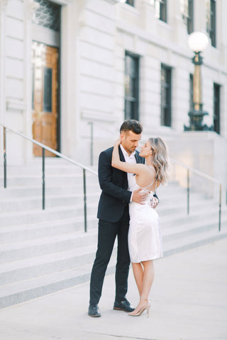 Downtown Greensboro Engagement Session - Lindley Battle