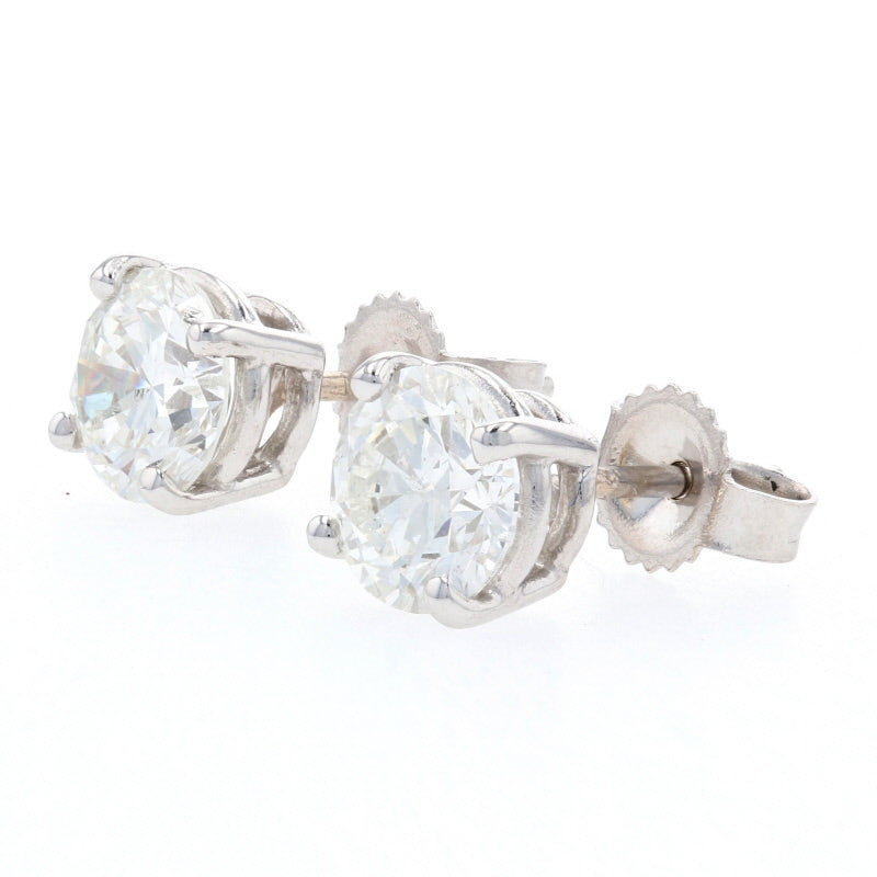 1.42ctw Diamond Earrings White Gold
