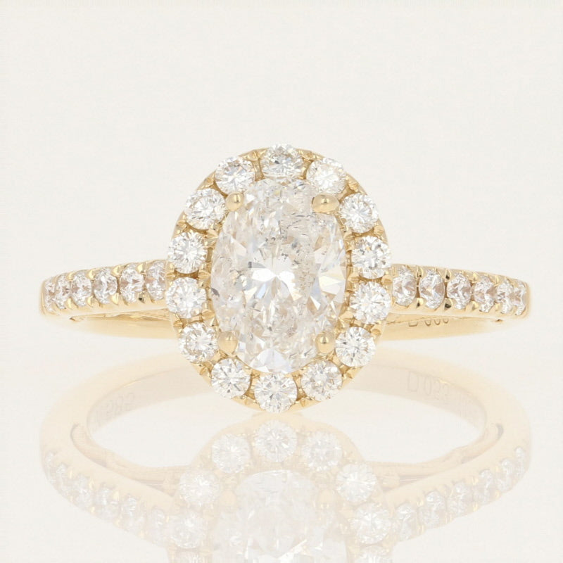 Diamond Halo Engagement Ring 1.71ctw