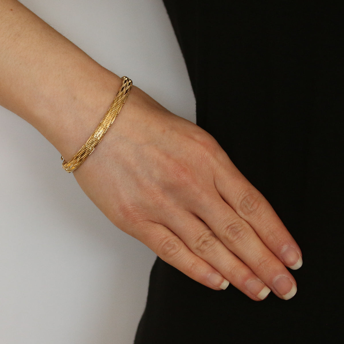 Roberto Coin Woven Silk Bracelet Yellow Gold