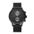 Obaku Gran Charcoal Men's Dual Time Watch V196GUBBMB