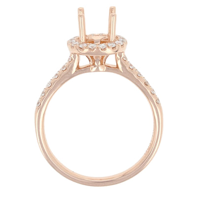 Semi-Mount Halo Engagement Ring .31ctw