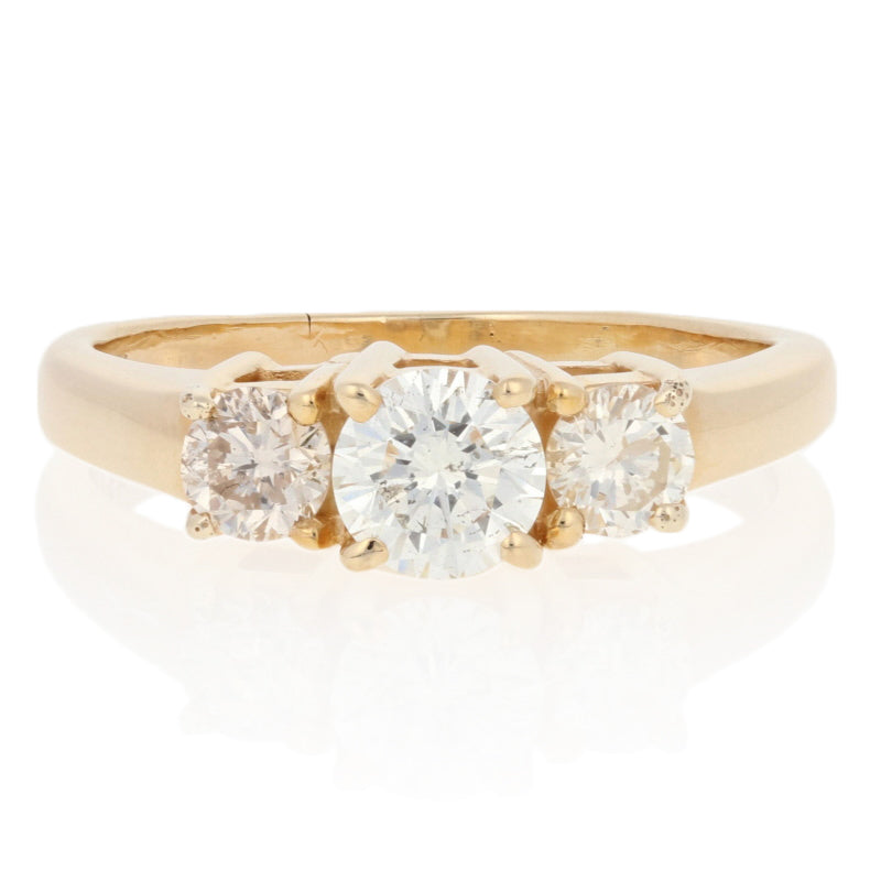 1.24ctw Diamond Engagement Ring Yellow Gold