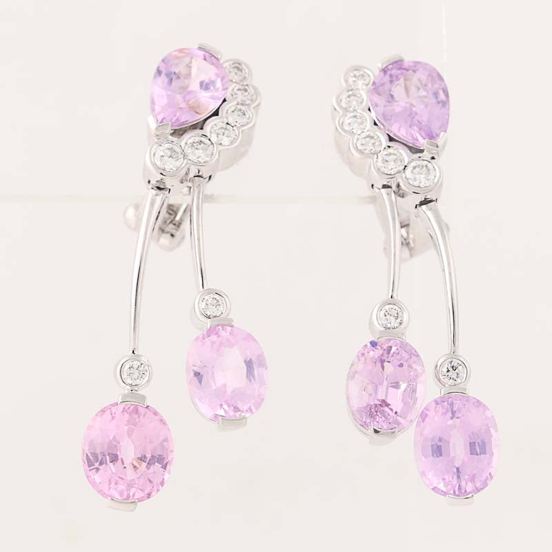9.00ctw Spinel & Diamond Earrings White Gold