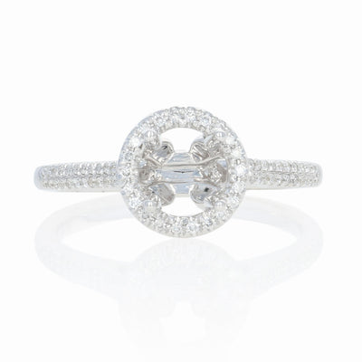 Semi-Mount Engagement White Gold