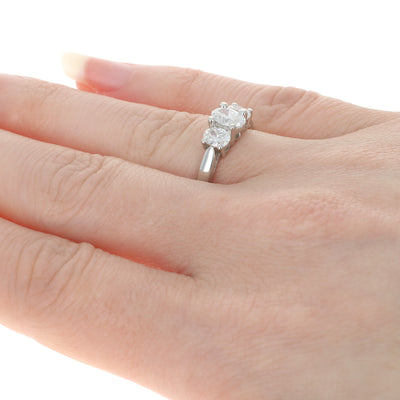 1.00ctw Diamond Engagement Ring Platinum