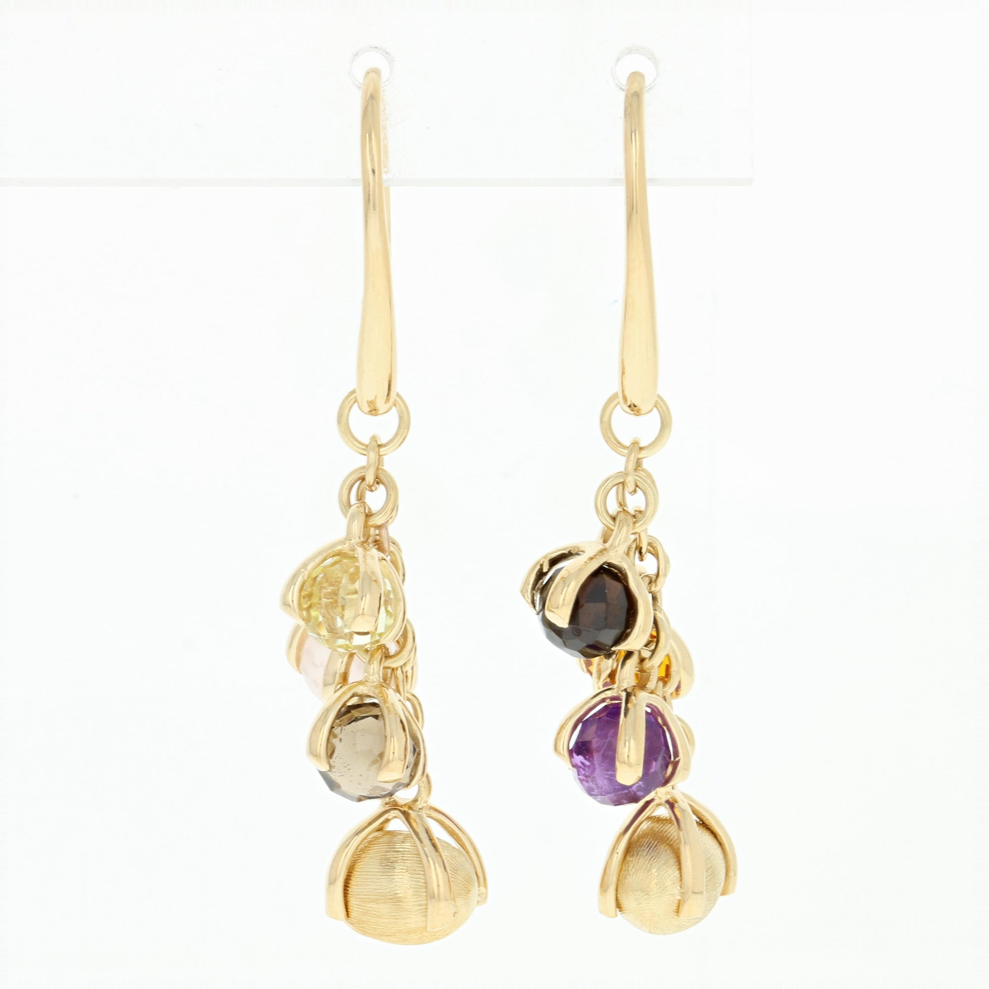 Nanis Multi-Gemstone Earrings Yellow Gold