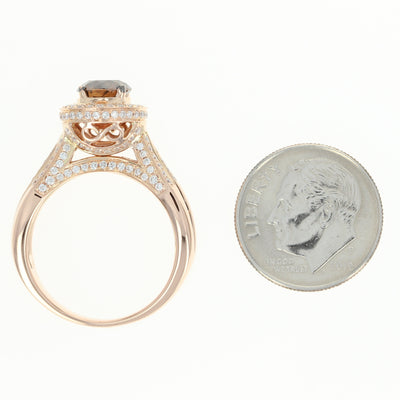 Le Vian 1.86ctw Diamond Ring Rose Gold