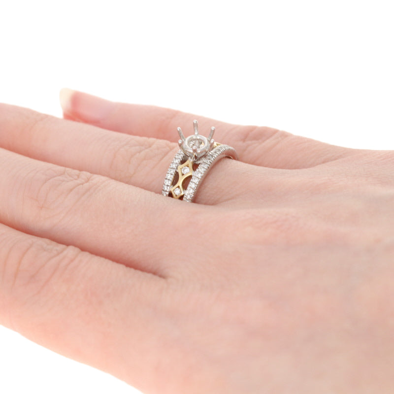 Semi-Mount Two Tone Engagement Ring .27ctw