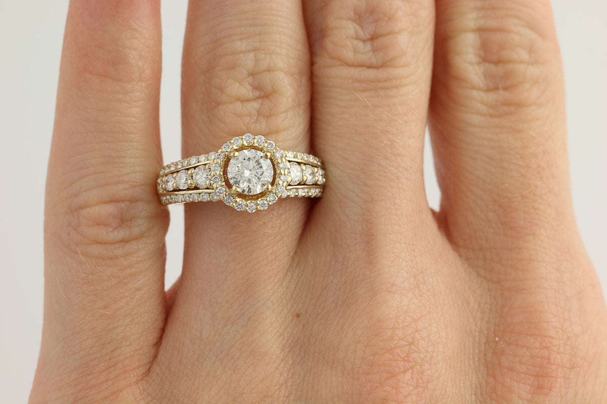 Diamond Engagement Ring 1.35ctw