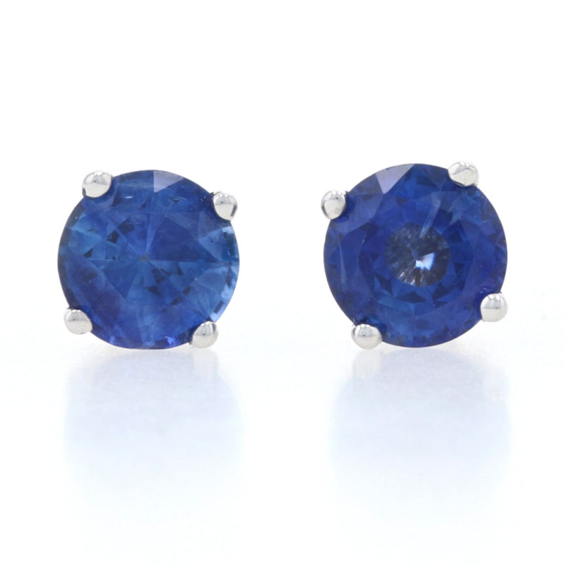 1.07ctw Sapphire Earrings White Gold
