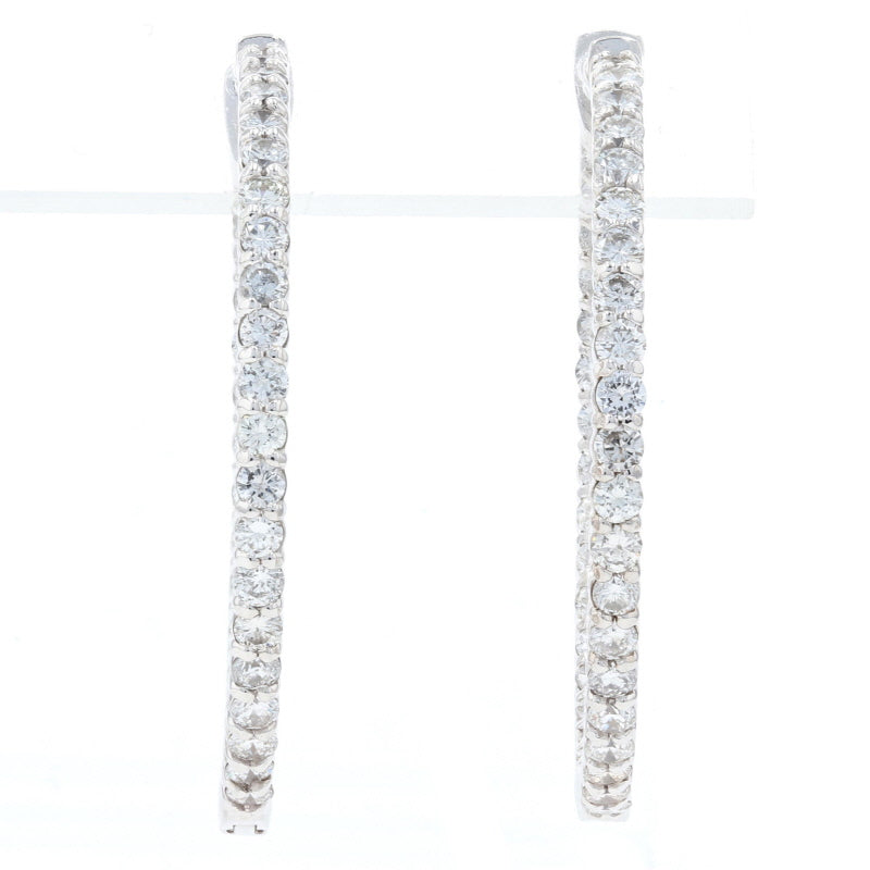 2.58ctw Diamond Hoop Earrings White Gold