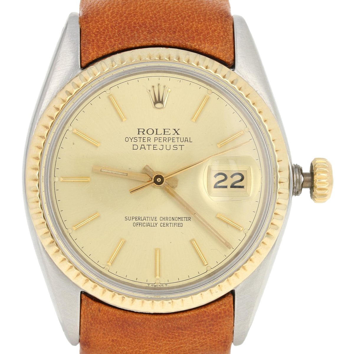 Rolex Oyster Perpetual Datejust Men's Watch - Stainless & 18k Gold 16013