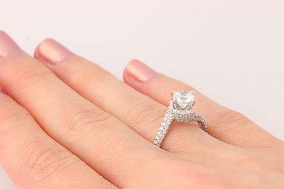 Scott Kay Semi-Mount Engagement Ring .78ctw