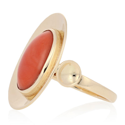 Coral Ring Yellow Gold