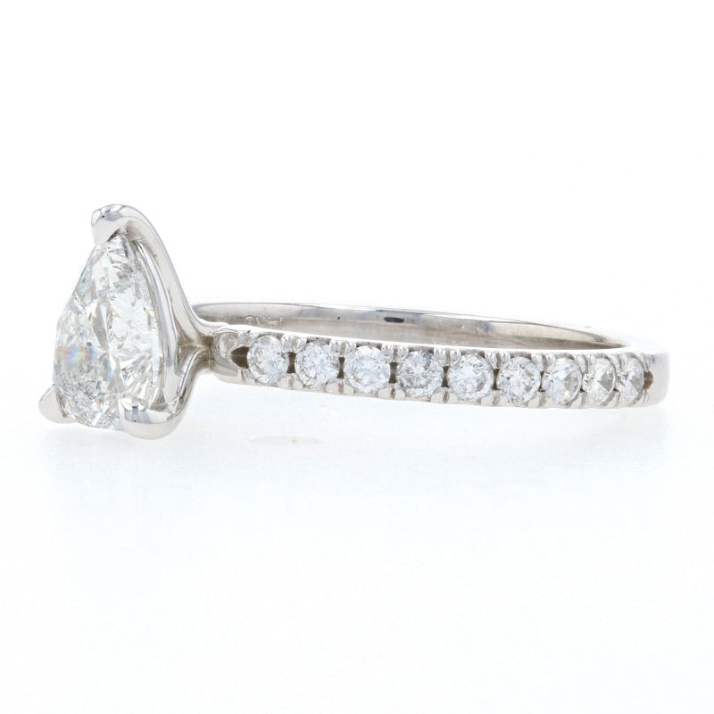 1.32ctw Diamond Engagement Ring White Gold